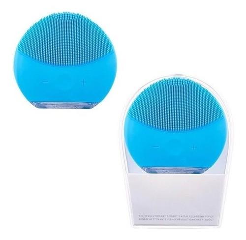 Esponja Elétrica Limpeza Profunda Para O Rosto Forclean Azul