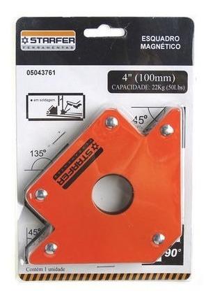 Esquadro Magnético 4 (100mm) Capacidade 22kg Starfer