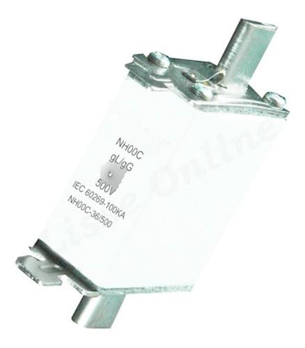 Fusivel 80a Retardado Gl-gg Base Nh00 500v Porcelana