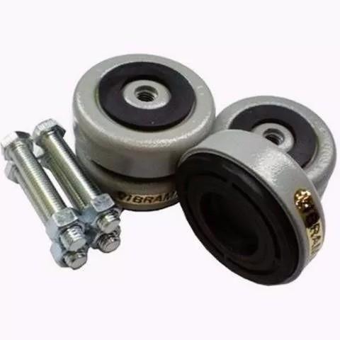 Jogo 4 Amortecedores Para Maquina Compressor 5000kg 1/2