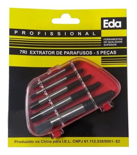 Jogo Kit Extrator De Parafusos Quebrado 3 A 18mm 5 Peças