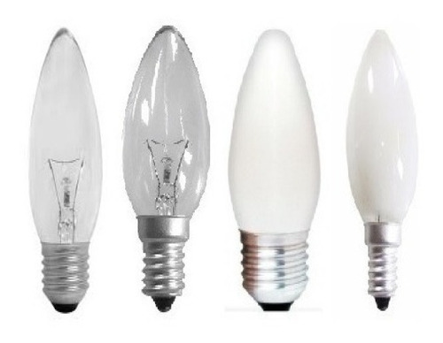 Kit 15//lâmpada Vela 25/40/60w 127/220v E-27 / E-14 Clara