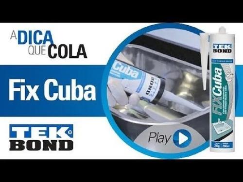 Kit 3 Cola Fixa Cuba Pias E Lavatórios Tek Bond 380gr