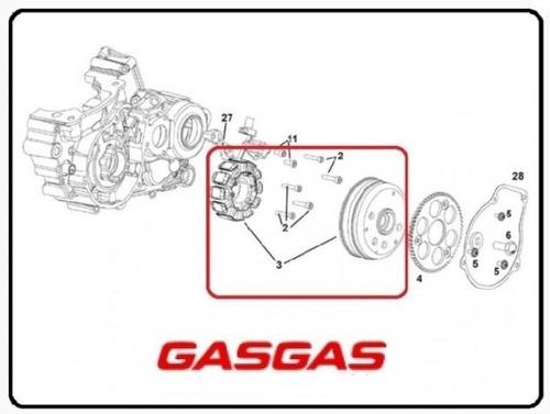 Kit Volante Magnetico Rotor+ Bobinas Gasgas Ec250/300 18/20