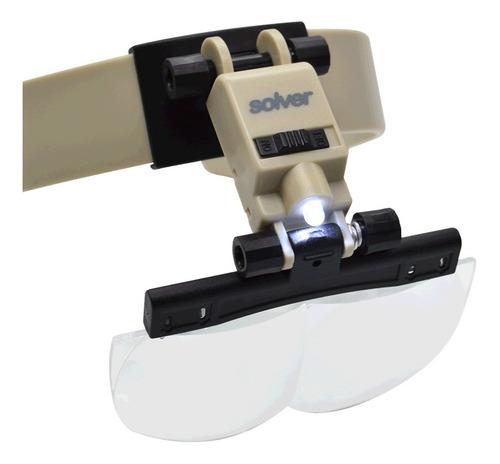 Lupa Para Cabeça Com Led C/ Ajuste De Inclinação Solver