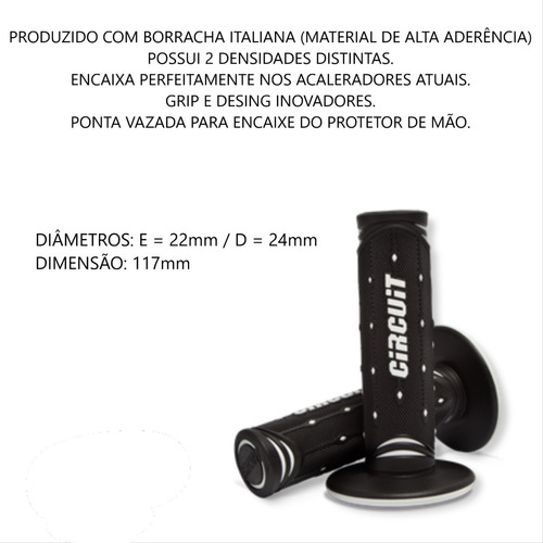 MANOPLA JUPITER EVERYDAY PRETO/BRANCO