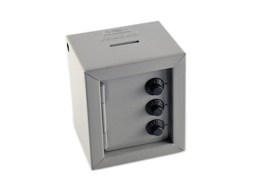 Mini Cofre Com Segredo Para Moedas/cédula - Fercar