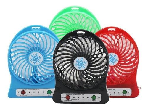 Mini Ventilador De Mesa Velocidade 3 Potente Usb E Bateria