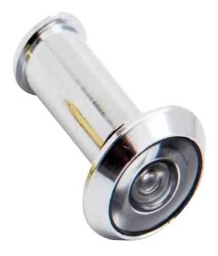 Olho Mágico C/ Visor Latonado Para Porta Cromado Brasfort