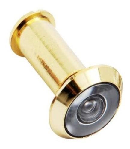 Olho Mágico C/ Visor Para Porta Brasfort Dourado