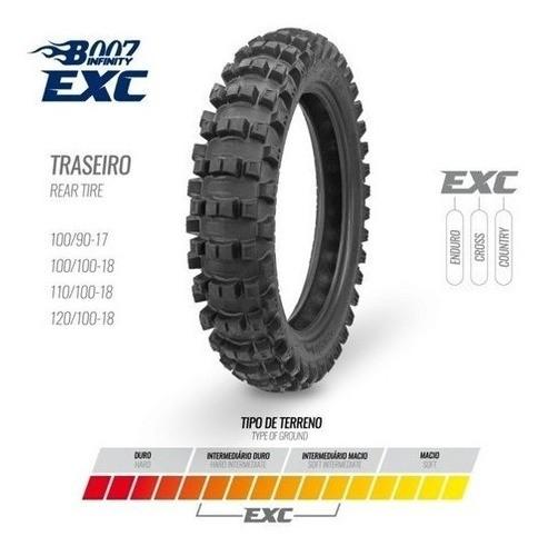 Pneu Traseiro 100/100-18 Exc Borilli Racing