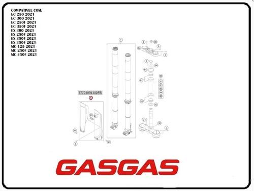 Protetor De Bengala Gasgas 2021 Ec250/300/250f/350f Mc 125/