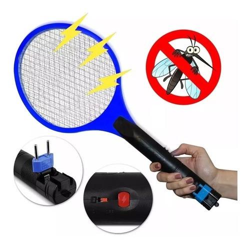 Raquete Elétrica Mata Pernilongo Mosquito Recarregável