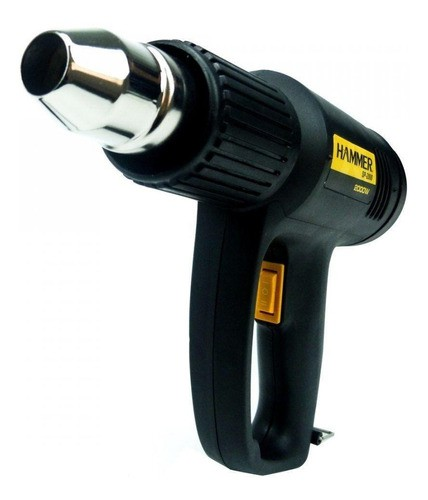 Soprador Termico Hammer 1700w 350ºc À 550ºc C/ 4 Bicos Preto