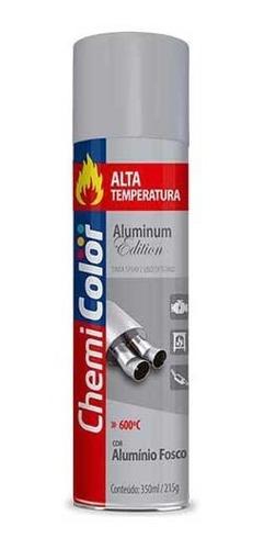 Tinta Spray Chemicolor Alta Temperatura Alumínio 350ml