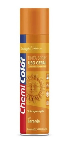 Tinta Spray Chemicolor Laranja 400ml Para Uso Geral