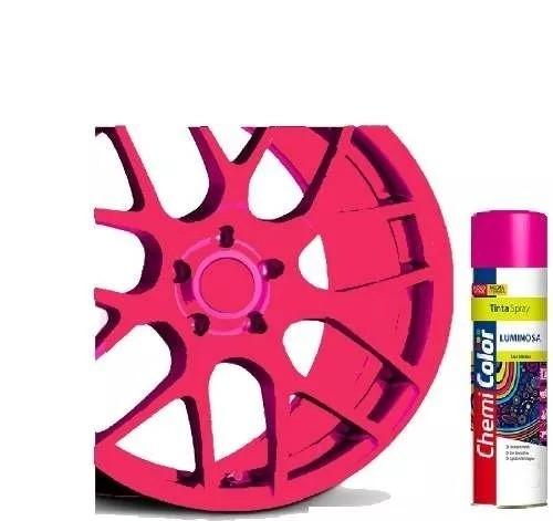 Tinta Spray Luminosa Rosa Pink Fluorescente 400ml Chemicolor