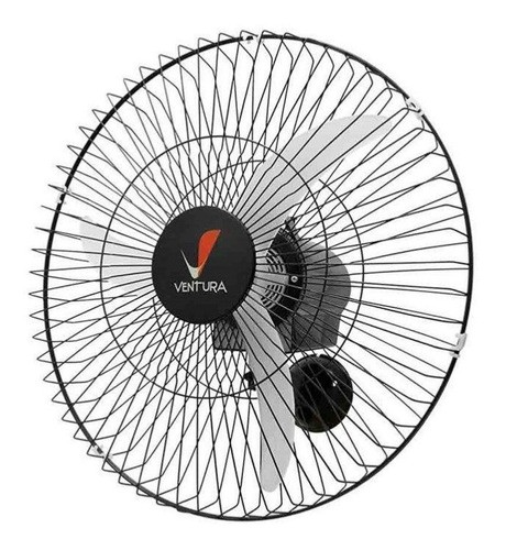 Ventilador De Parede Venti-delta 796425 Preto Com 3 Pás, 60cm De Diâmetro 110v/220v