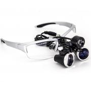 Óculos Lupa Cabeca 3,5x Led 3 Watts Cirúrgico Dentista