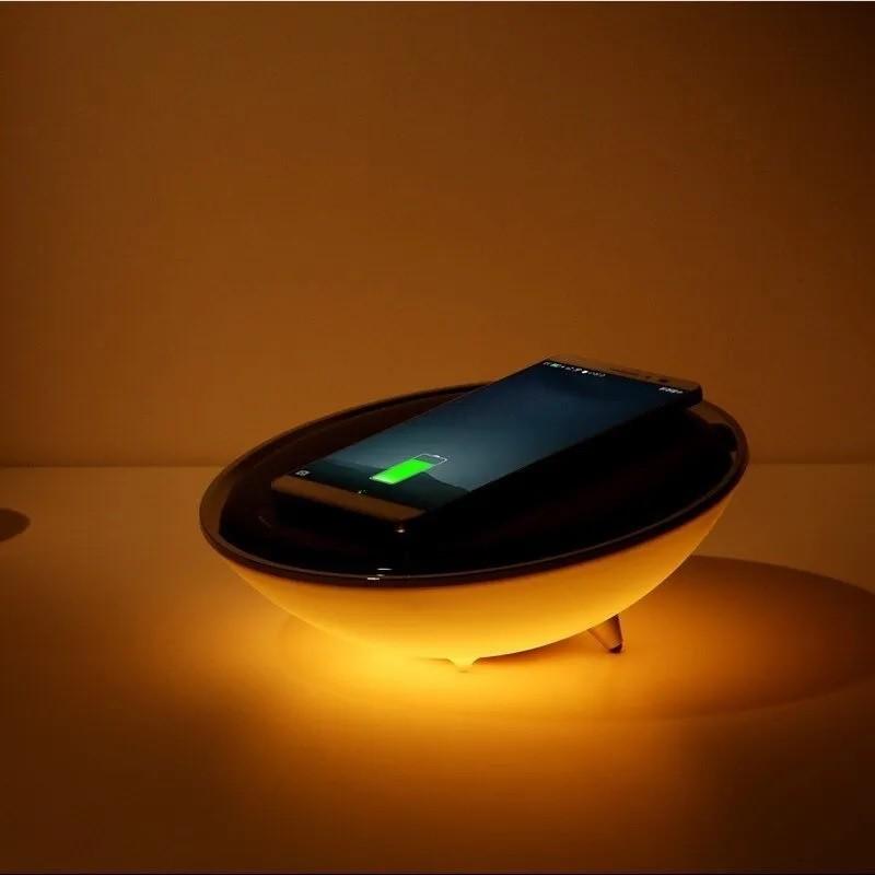Carregador De Celular Wireless E Luminária Colorida Qi 57006