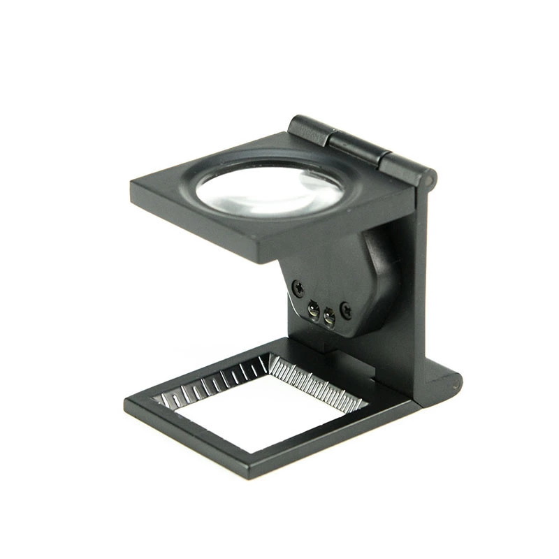 Conta-fios 8x em metal com Led e escala em mm