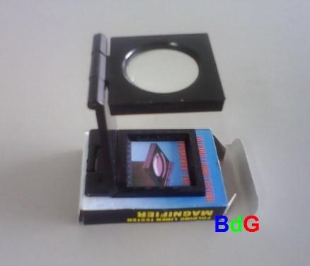 Conta-fios de plástico c/ Escala de 0 - 20mm; Ampliação 5x