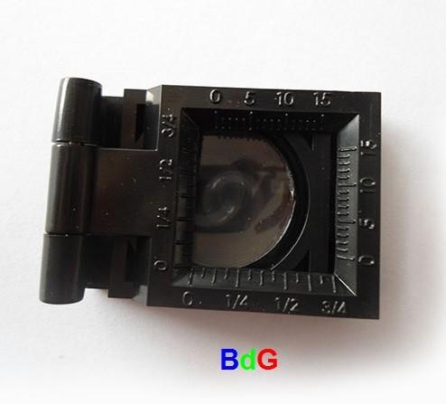 Conta-fios de plástico c/ Escala de 0 a 15 mm; Ampliação 8x