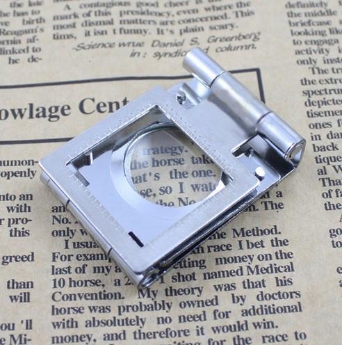 Conta Fios Prata Em Metal Ampliação 10x Escala 20mm