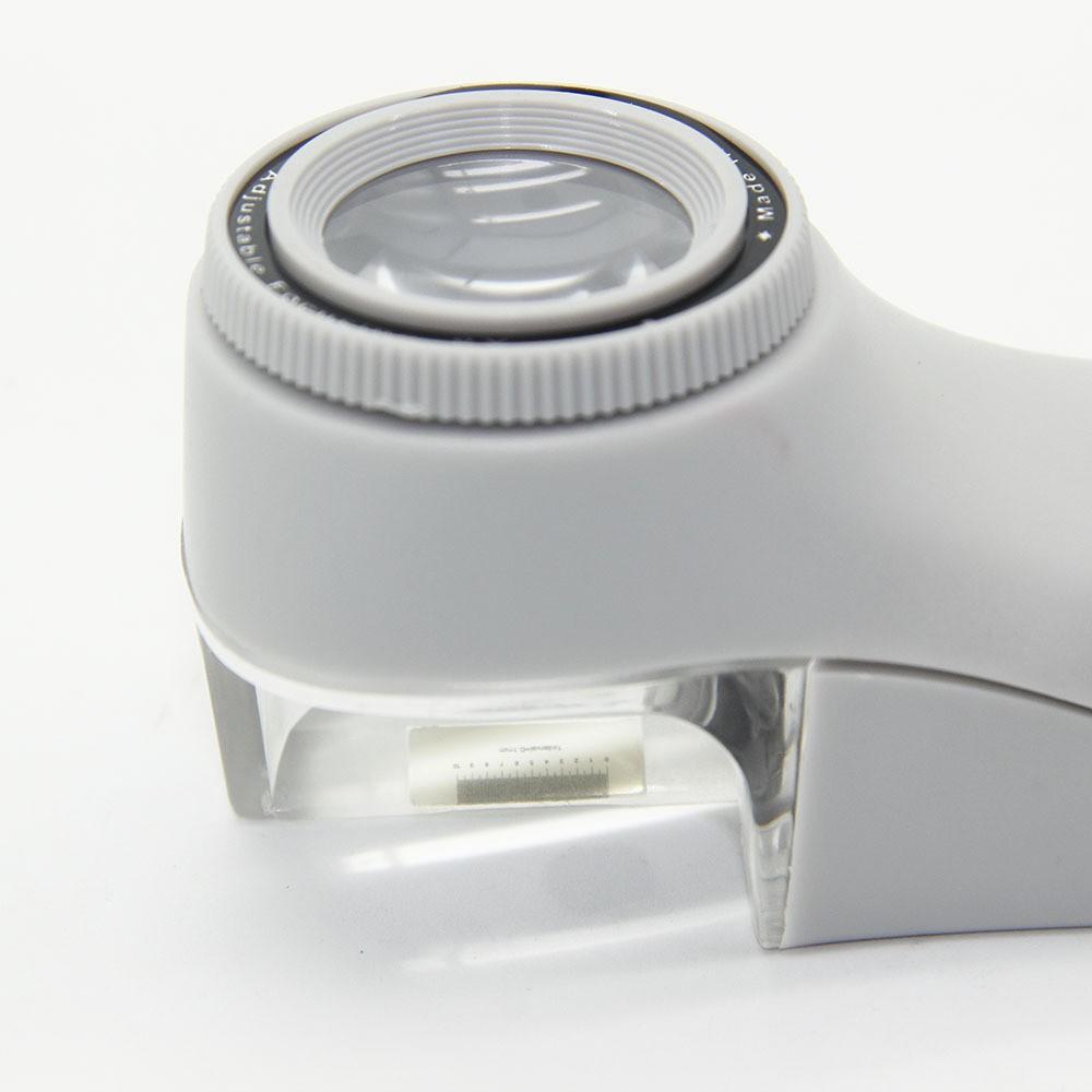 Lupa Conta-fios 8x com led e escala de 0,10mm (isso mesmo 0,10)