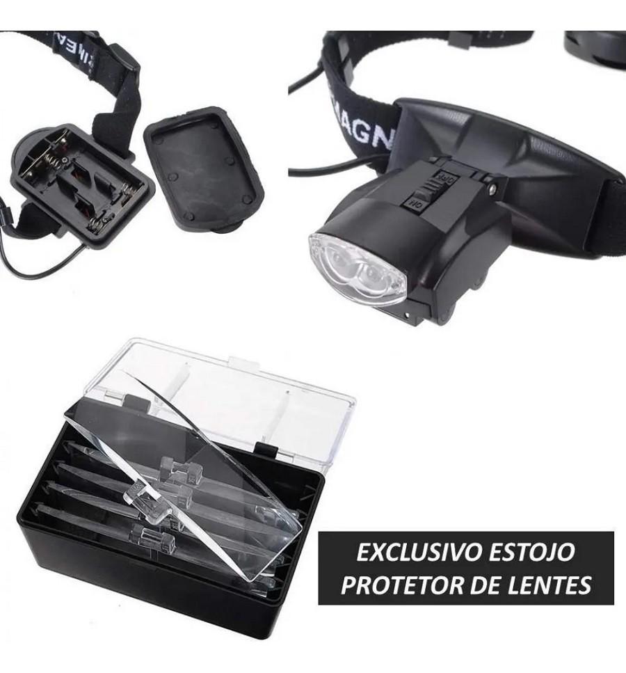 Lupa De Cabeça Profissional C/ Luz 11 Opções Aumentos 9892c