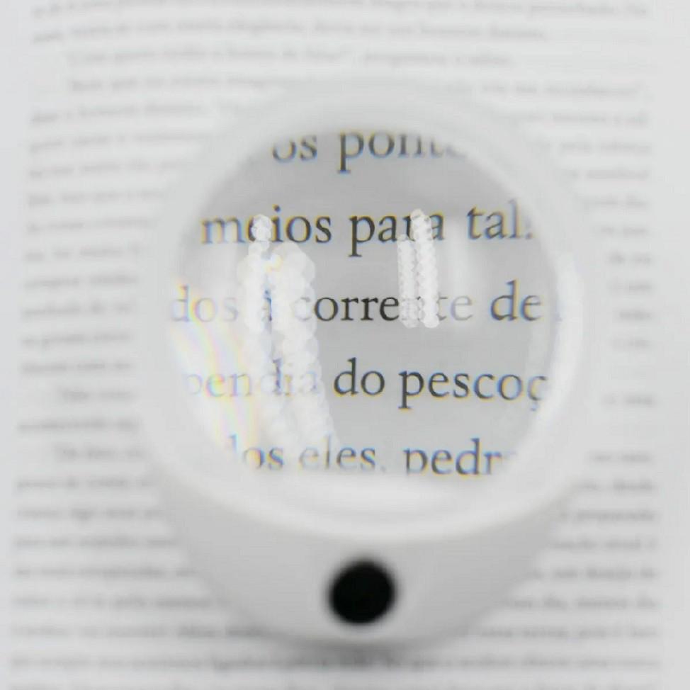 Lupa De Mão 10x com Led - Para Leitura E Peso
