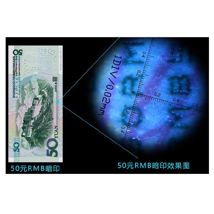 Lupa Microscópio 100x com luz e escala com resolução de  0,02mm