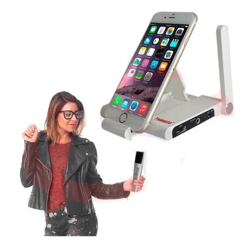 Microfone Com Receptor Karaoke Wireless Sem Fio Mt-2206