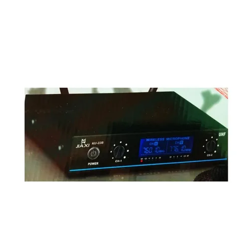 Microfone Profissional Duplo Wireless Sem Fio Jiaxi Ku-22b
