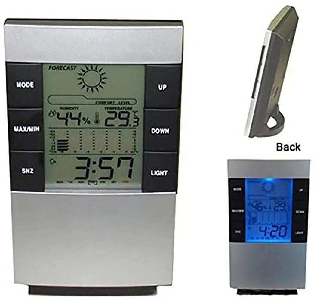Relógio Termo Higrômetro Digital Despertador Termômetro