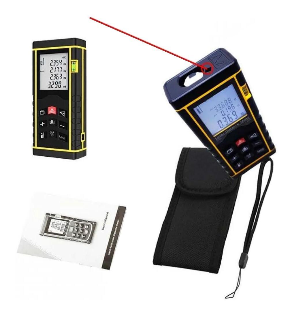 Trena Laser Prof. 80m Prec 2mm Calc Área Pilha+bolsa Ce Rohs
