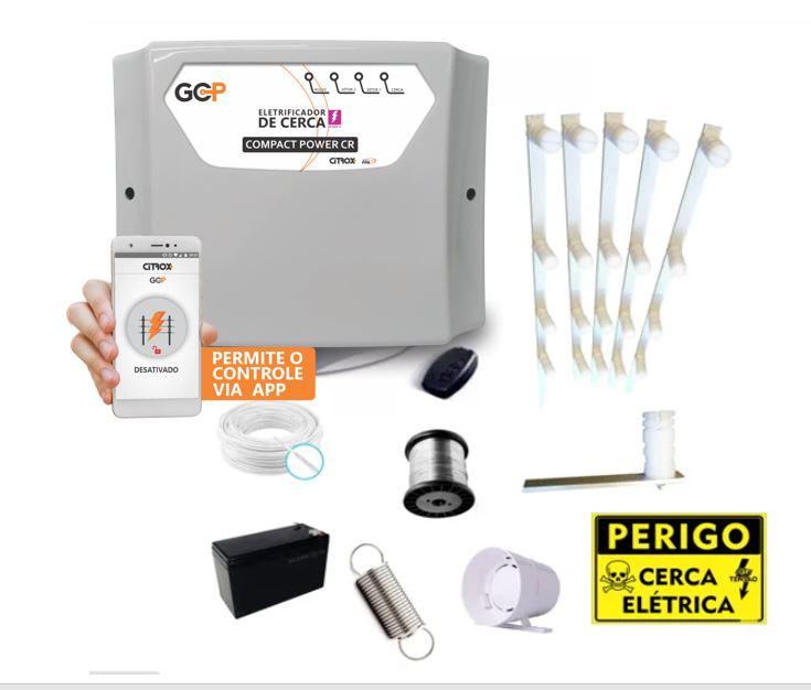 Kit Cerca Elétrica para até 90 metros de muro GCP 10000 CR Economy Compact