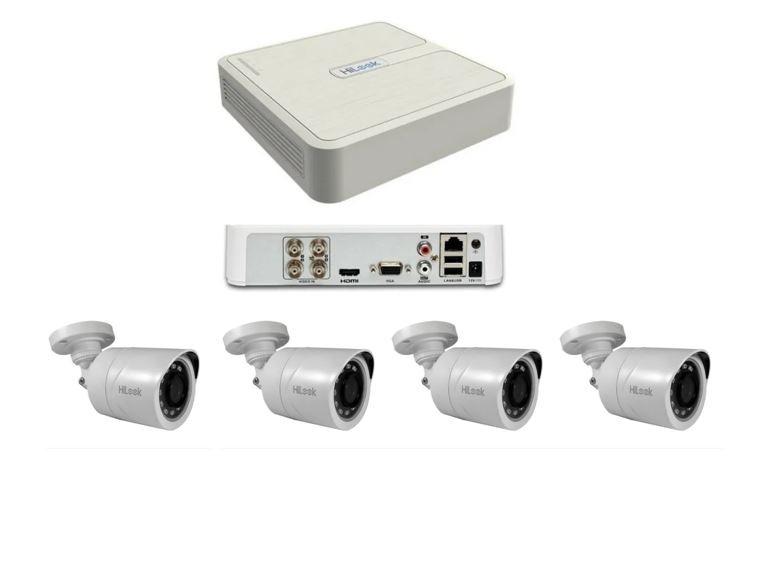 Kit DVR 4 Canais + 4 Câmeras Bullet Full HD