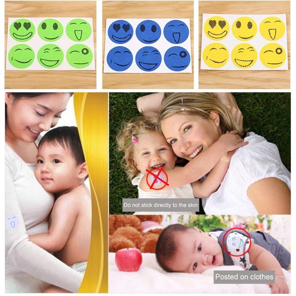 90 Adesivos Repelente Citronela Emojis 15 Cartelas Com 6 Und