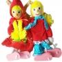 Marionete Chapeuzinho vermelho e Menino