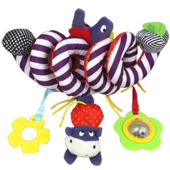 Chocalho Móbile Espiral Colorido Infantil