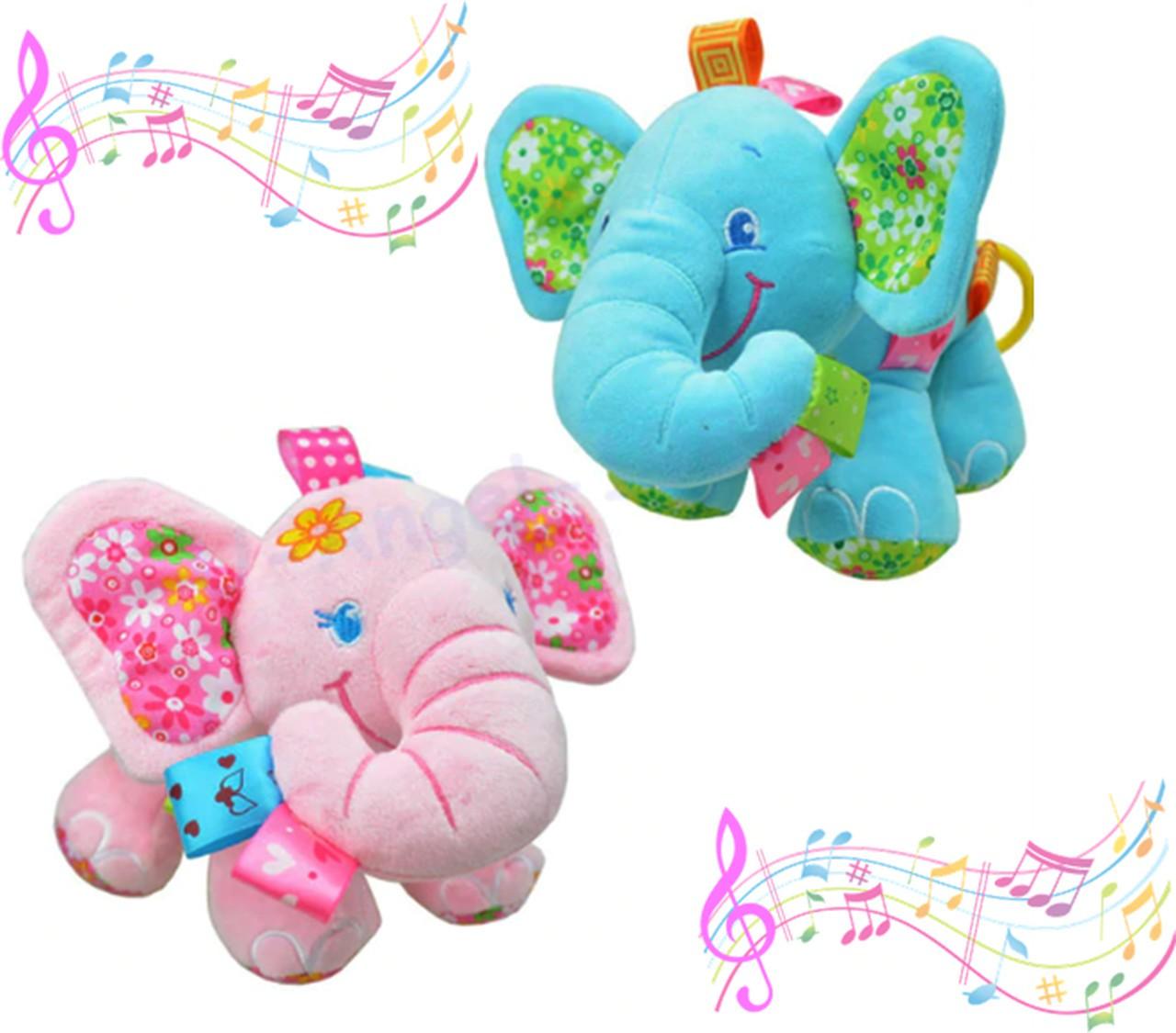 Elefante pelúcia musical