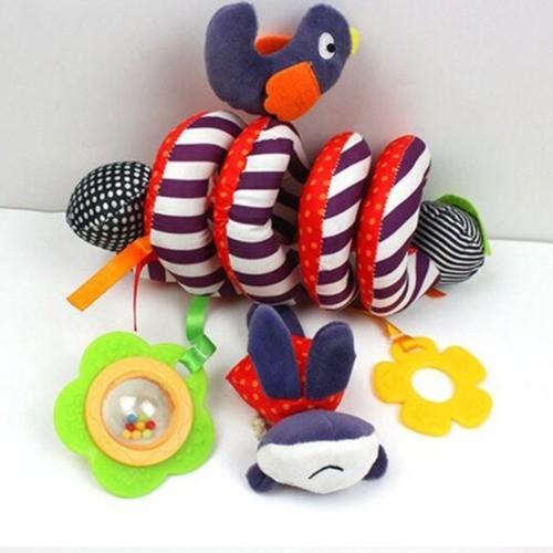 Kit Mobile Espiral Berço/carrinho/bebê Conforto + Luva Mordedor