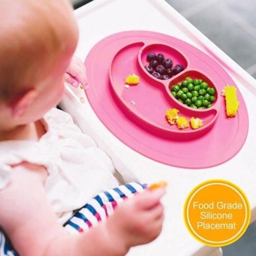 Kit Pratinho Silicone Para Bebê Alimentação+porta Escova Dente