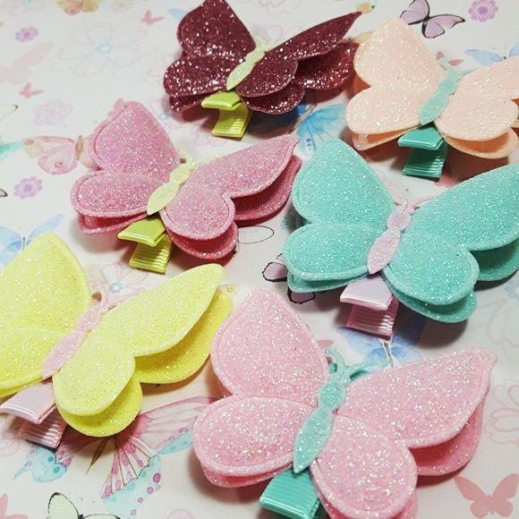 Lacinho Borboleta com Glitter