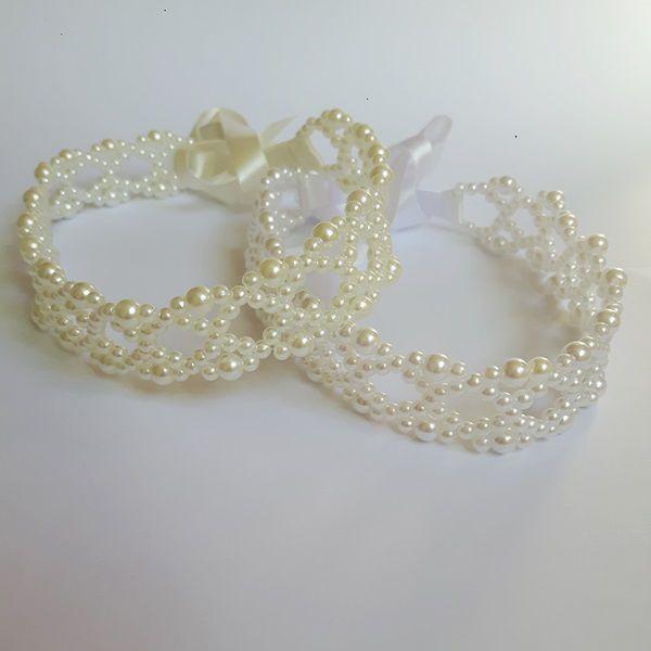 Tiara Headband com pérolas