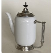 Bule Chá/Leite porcelana com Estanho 700 ml (P64107)