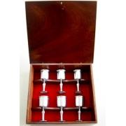 Conjunto de taças/cálices de licor em caixa de madeira (CNJ038)