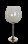 Taça de cristal para BOURGOGNE G, capacidade 850ml com haste de estanho do tipo lisa (P426O18)