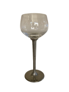 Taça de cristal para BOURGOGNE M, capacidade 300ml com haste de estanho do tipo lisa (P426G18)